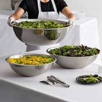 Choice Standard Weight Stainless Steel Mixing Bowl Set with 13, 20, and 30 Qt. Bowls