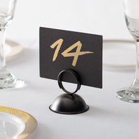 Choice 2 1/2 inch Black Menu / Card Holder   - 12/Pack