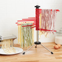 4.4 lb. Stainless Steel and Polycarbonate Pasta Drying Rack - 16 Arm
