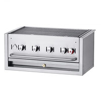 Crown Verity BI-30 Liquid Propane 30 inch Stainless Steel Built-In Outdoor BBQ Grill / Charbroiler