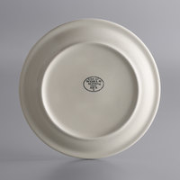 World Tableware NR-9 Kingsmen White 9 1/2 inch Ultima Cream White Narrow Rim Round Stoneware Plate - 24/Case