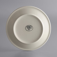 World Tableware NR-22 Kingsmen White 8 inch Ultima Cream White Narrow Rim Round Stoneware Plate - 36/Case