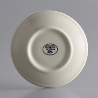 World Tableware PWC-36 Princess White 4 7/8 inch Ultima Cream White Round Rolled Edge Stoneware Saucer - 36/Case
