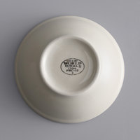 World Tableware PWC-15 Princess White 12.5 oz. Ultima Cream White Round Rolled Edge Stoneware Oatmeal Bowl - 36/Case