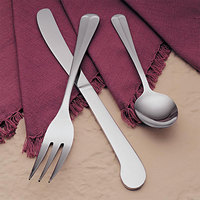 World Tableware Brandware 132 0304 Freedom 7 1/2 inch 18/0 Stainless Steel Medium Weight 4 Tine Dinner Fork - 36/Case