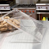 Cambro 1826CCW135 Camwear 26 inch x 18 inch Clear Flat Lid for Food Storage Box