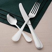 World Tableware Brandware 160 030 Geneva 7 inch 18/0 Stainless Steel Medium Weight Dinner Fork - 36/Case