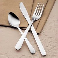 World Tableware Brandware 141 030 Windsor 7 1/8 inch 18/0 Stainless Steel Heavy Weight Dinner Fork - 36/Case