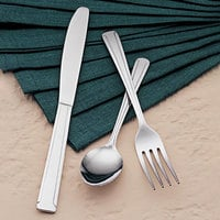 World Tableware Brandware 147 030 Dominion 7 1/8 inch 18/0 Stainless Steel Heavy Weight Dinner Fork - 36/Case