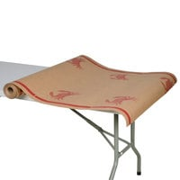 40 inch x 100' Paper Table Cover with Crab Pattern