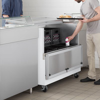 Beverage-Air SM49HC-W 49 inch White 1-Sided Cold Wall Milk Cooler