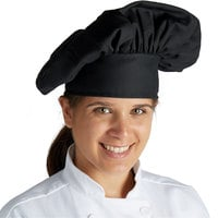 Mercer Culinary Millennia® Customizable Black Soft Chef Hat / Floppy Toque Hat