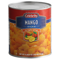 Celebrity #10 Can Diced Mango in Light Syrup