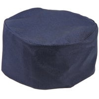 Mercer Culinary Millennia® Customizable Navy Baker's Skull Cap / Pill Box Hat - Regular Size