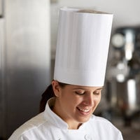 Mercer Culinary Genesis® 9 inch White Chef Trek Toque Hat