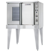 U.S. Range SUMG-GS-10ESS LP Summit Series Liquid Propane Single Deck Full Size Convection Oven - 53,000 BTU