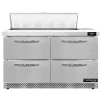 Continental Refrigerator SW48N10-FB-D 48 inch 4 Drawer Front Breathing Refrigerated Sandwich Prep Table