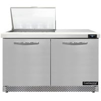 Continental Refrigerator SW48N12M-FB 48 inch 2 Door Mighty Top Front Breathing Refrigerated Sandwich Prep Table