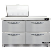 Continental Refrigerator SW48N12M-FB-D 48 inch 4 Drawer Mighty Top Front Breathing Refrigerated Sandwich Prep Table
