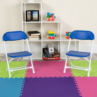 Flash Furniture Y-KID-BL-GG Blue Kids Plastic Folding Chair