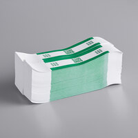 MMF Industries 1160503D02 Green $200 Self-Adhesive Currency Strap   - 1000/Box