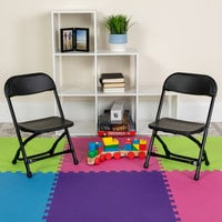 Flash Furniture Y-KID-BK-GG Black Kids Plastic Folding Chair