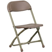 Flash Furniture Y-KID-BN-GG Brown Kids Plastic Folding Chair