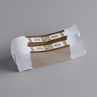 MMF Industries 1160503I09 Brown Self-Adhesive $5000 Currency Strap - 1000/Box