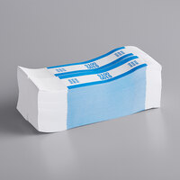 MMF Industries 1160503C08 Blue $100 Self-Adhesive Currency Strap - 1000/Box