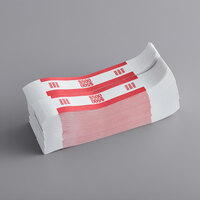 MMF Industries 1160503F07 Red Self-Adhesive $500 Currency Strap - 1000/Box