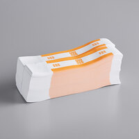 MMF Industries 1160503B16 Orange $50 Self-Adhesive Currency Strap   - 1000/Box
