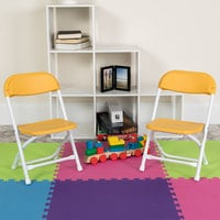 Flash Furniture Y-KID-YL-GG Yellow Kids Plastic Folding Chair