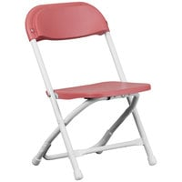 Flash Furniture Y-KID-BY-GG Burgundy Kids Plastic Folding Chair