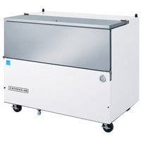 Beverage-Air SM49HC-W-02 49 inch 1-Sided White Milk Cooler with Stainless Steel Interior