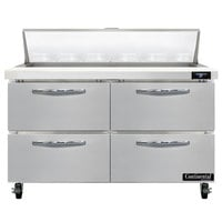 Continental Refrigerator SW48-N-12-D 48 inch 4 Drawer Refrigerated Sandwich Prep Table