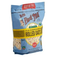 Bob's Red Mill 32 oz. Organic Gluten Free Whole Grain Rolled Oats - 4/Case
