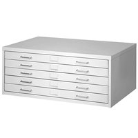 Safco 4972LG Medium Facil Steel Flat File Cabinet