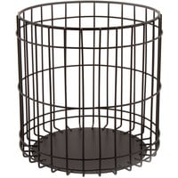 GET WB-307-MG Breeze 6 1/2 inch x 6 3/8 inch Round Metal Gray Basket