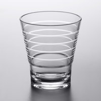 GET SW-1709-CL Cirq 9 oz. SAN Plastic Stackable Rocks / Old Fashioned Glass - 24/Case