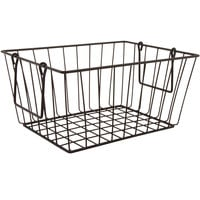 GET WB-315-MG Breeze 11 1/2 inch x 8 1/2 inch x 8 inch Rectangular Metal Gray Basket with Swinging Handles