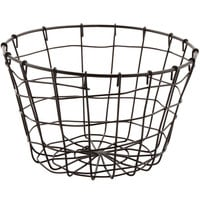 GET WB-316-MG Breeze 8 inch x 5 inch Round Metal Gray Storage Basket