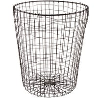 GET WB-300-MG Breeze 11 1/2 inch x 14 7/16 inch Round Metal Gray Storage Basket