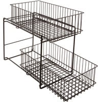 GET WB-309-MG Breeze 15 inch x 8 inch x 11 inch Metal Gray Sliding Shelf Baskets