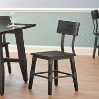 Lancaster Table & Seating Rustic Industrial Dining Side Chair with Slate Gray Finish