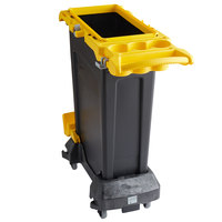 Rubbermaid 2032954 Slim Jim 23 Gallon Yellow Rim Caddy Kit with Rectangular Container, Rim Caddy, and Dolly