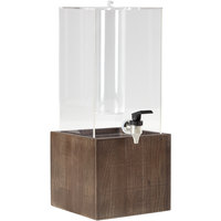 GET Enterprises Urban Renewal 3 Gallon Beverage Dispenser with Ice Chamber and 8 inch Gray Ash Square Riser