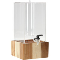 GET Enterprises Urban Renewal 3 Gallon Beverage Dispenser with Ice Chamber and 5 inch Urban Rustic Square Riser