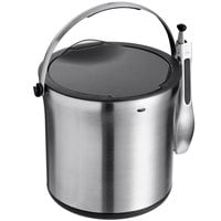 OXO 3107300 SteeL™ Double Wall Stainless Steel 4 Qt. Ice Bucket with Tong