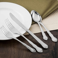Walco 6506 Discretion 6 1/8 inch 18/0 Stainless Steel Heavy Weight Salad Fork - 24/Case