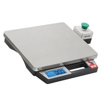 Taylor TE10PZR 10 lb. Digital Precision Pizza Scale with External Tare Switch and Built-In Handle